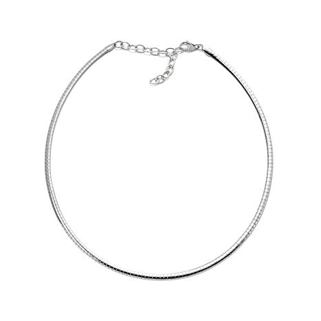 """Stately Steel 4mm 17"""" Omega-Link Stainless Steel Chain"""