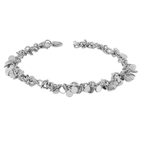 """Stately Steel 9"""" Multi-Disc Cable-Chain Anklet"""