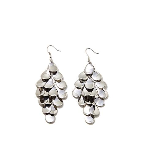 Stately Steel MultiLayered Teardrop Chandelier Earrings 8249572 – Chandelier Earring