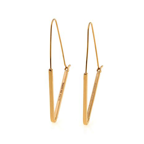 Stately Steel Triangular Threader Earrings