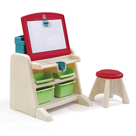step 2 Flip and Doodle Easel Desk with Stool