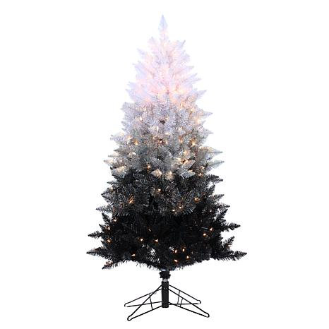 Sterling 5' Vintage Black Ombre Lighted Christmas Tree