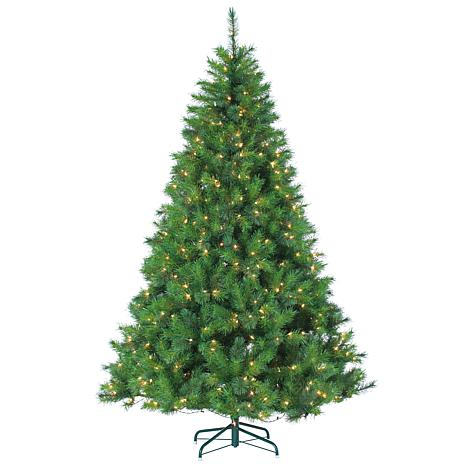 Sterling 7-1/2' Clear Lighted Wisconsin Spruce Tree