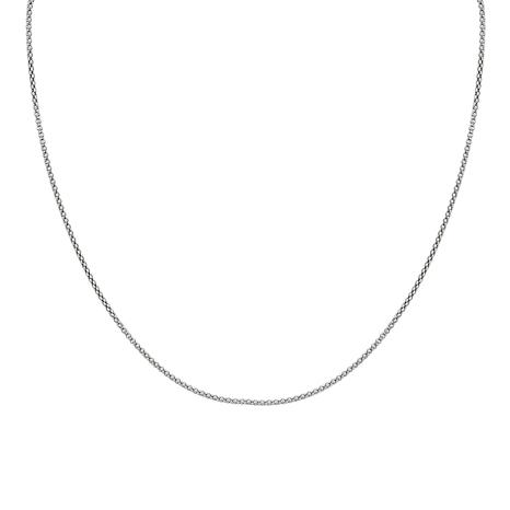 "Sterling Silver Oxidized Popcorn Chain 18"" Necklace"