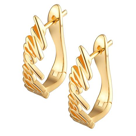 Sterling Silver Script Name Earrings