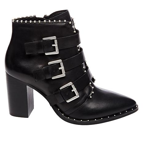 53b3b81d566 Steve Madden Humble Triple-Strap Leather Bootie