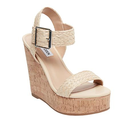 Steve Madden Splash Natural Raffia Espadrille Wedge Sandal