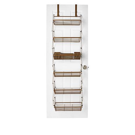 StoreSmith Over-the-Door Collapsible 6-Tier Baskets