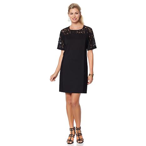 Studio Chic Lace-Paneled Dress