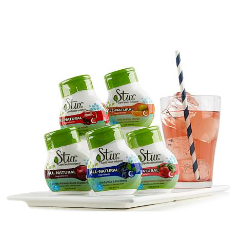 Stur All-Natural Water Enhancer Variety 5-pack AS