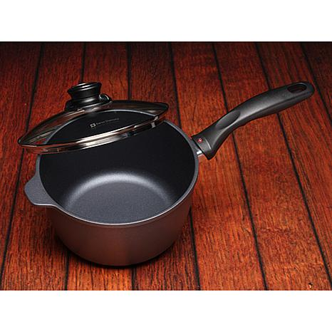swiss diamond nonstick 3 2 quart saucepan with lid 7467740 hsn. Black Bedroom Furniture Sets. Home Design Ideas