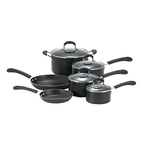 T-fal® Professional 10-piece Cookware Set - Black