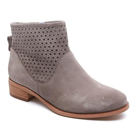 Tahari Kailah 2 Suede Bootie with Perforated Trim
