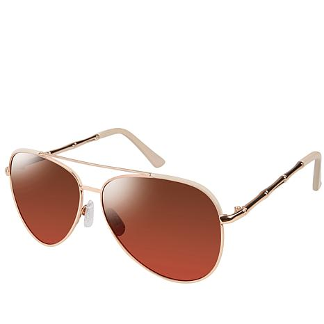 Tahari Metal Aviator Sunglasses