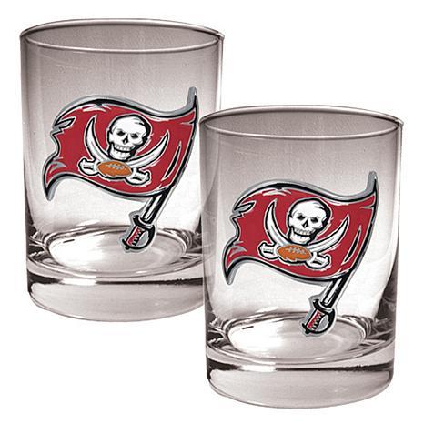 Tampa Bay Buccaneers 2pc Rocks Glass Set