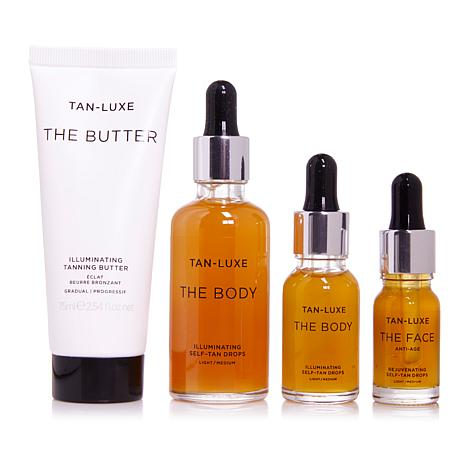 Tan-Luxe Get Up and Glow Tanning Collection - Light/Medium