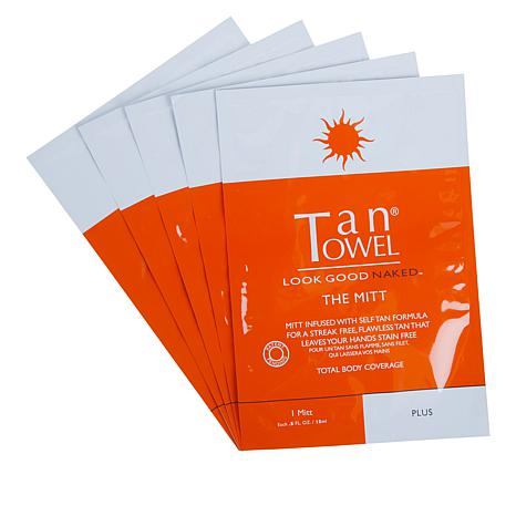 TanTowel® 5-pack The Mitt Plus Self-Tanning Mitt
