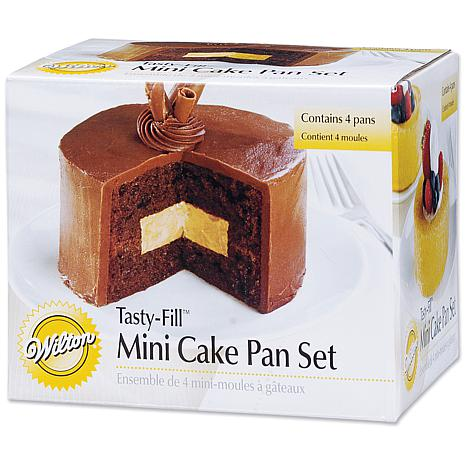 Tasty-Fill Mini Cake Pan Set - Round 4X1.25