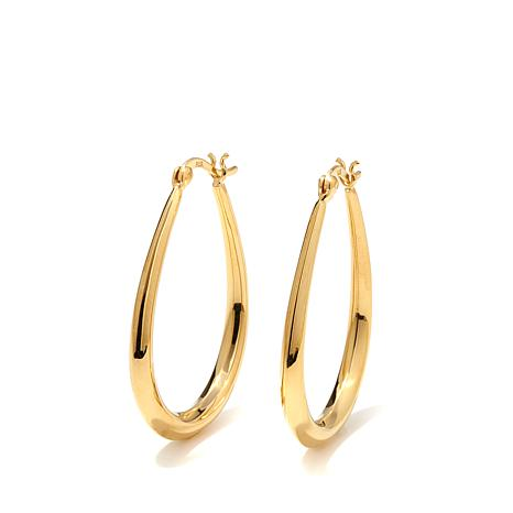 Technibond 1 3 8 Large Oval Hoop Earrings