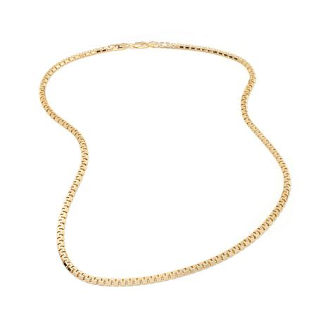 "Technibond® 4.54mm Six-Sided Box Chain 24"" Necklace"