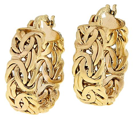Technibond® Byzantine Huggie Hoop Earrings