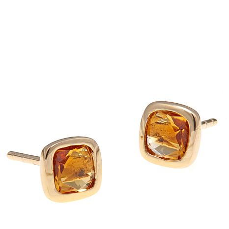 technibond citrine stud earrings and necklace set 8363918 hsn
