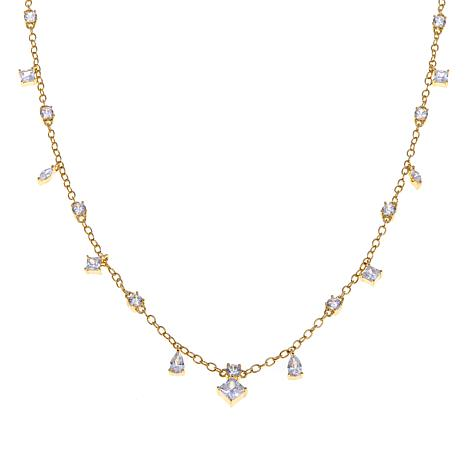 Technibond® CZ Charm Choker Necklace