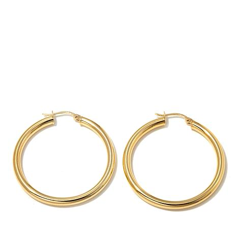 Technibond® Large Round Hoop Earrings