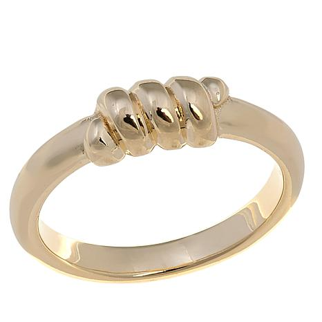 Technibond® Twisted Stackable Band Ring