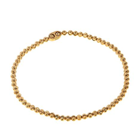 Technibond® Yellow Diamond-Cut Bead Stretch Bracelet