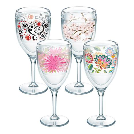 Tervis Cherry Blossom 4-pack 9 oz. Wine Glass