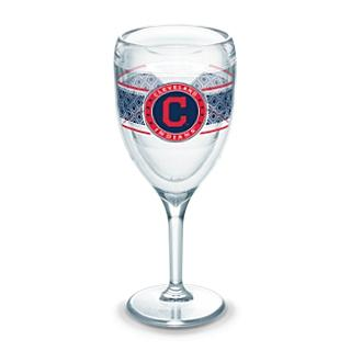 Tervis MLB Select 9 oz. Wine Glass - Cleveland Indians