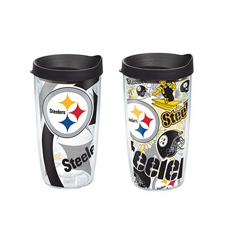 Tervis NFL 16oz All Over and Genuine Tumbler Set - Pittsburgh Steelers