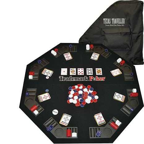 """Texas Holdem Travel Kit with 48"""" Tabletop and 300 Chips"""