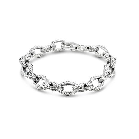 Tiffany Kay Studio Sterling Silver Black Spinel Link Bracelet