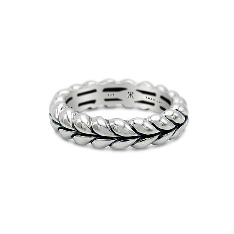 Tiffany Kay Studio Sterling Silver Herringbone-Textured Stack Ring