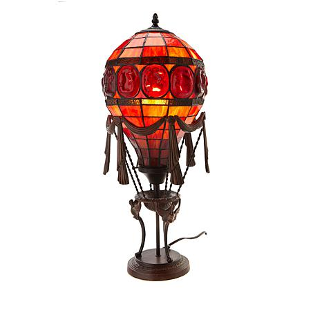 Tiffany-Style Turtle Back Hot Air Balloon  Accent Lamp