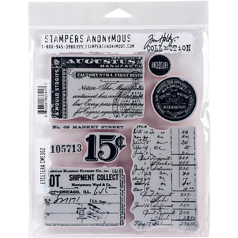"""Tim Holtz Cling Stamps 7"""" x 8.5"""" - Etcetera"""