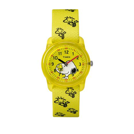 Timex Kid's Peanuts Snoopy Woodstock Strap Watch