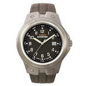 Timex Men's Expedition Metal Leather Strap Watch