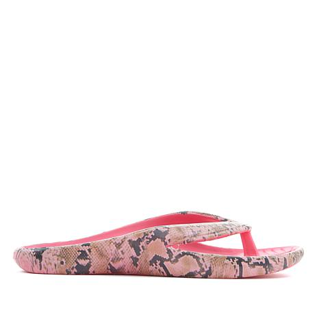 Tony Little Cheeks® Animal-Print Health Sandal with Gel Footbed
