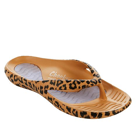 Tony Little Cheeks® Printed Health Sandal with Gel Footbed