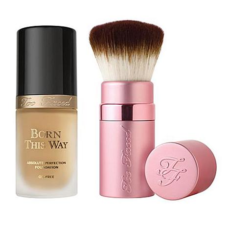 Too Faced Born This Way Natural Beige Foundation and Kabuki Brush Set