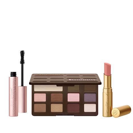 Too Faced Matte Chocolate Chip Eyeshadow 3pc Makeup Set