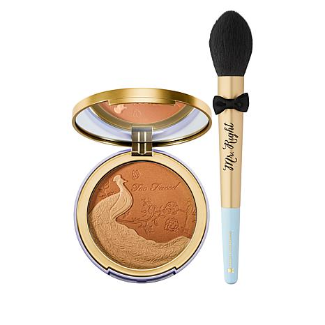Too Faced Natural Lust Satin Dual-Tone Bronzer with Brush