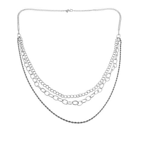"""Touch of Cyn 3-Row Chain-Link 38-1/2"""" Necklace"""