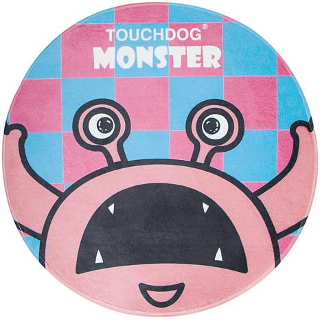 Touchdog Cartoon Up-for-Crabs Monster Rounded Cat and Dog Mat
