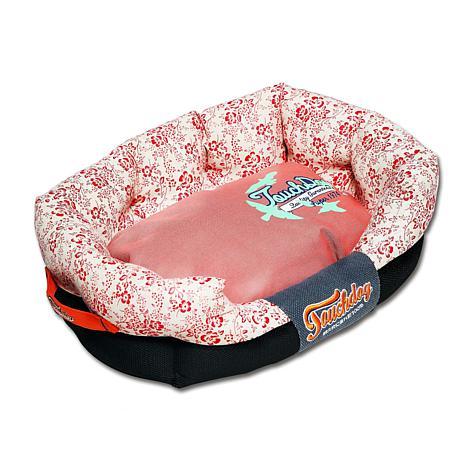 Touchdog Floral-Galore Rectangular Rounded Designer Dog Bed - Medium