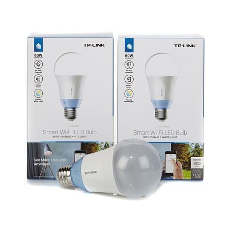 TP-Link 2pk LED Smart Wi-Fi Bulbs - White