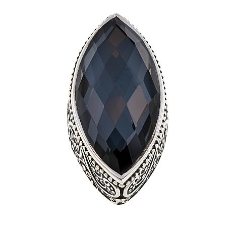 Traveler's Journey 10.7ct Hematite Quartz Doublet Pendant